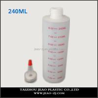 Hot!!!Large 240ml plastic glue bottle for hair / paint / ink,empty super cyanoacrylate glue bottles