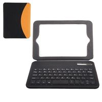 Dual-color Flip Stand Leather Bluetooth Keyboard Case for iPad Mini
