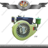 Hottest product Farm machinery single cylinder JD 170F diesel engine for air cooling tractor