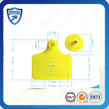 Factory price EM4305 134.2khz rfid plastic ear tags for cattle