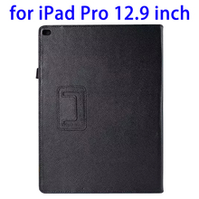 alibaba supplier Litchi Texture Flip Stand PU Leather Case Cover for iPad Pro 12.9 Inch