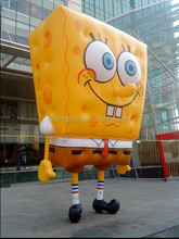 NB Cartoon Cheap Customized inflatable Spongebob for advertising