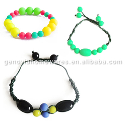 Hot selling bpa free silicone teething beads pendant with low price