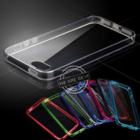 Clear transparent TPU silicone back soft gel bumper case cover for iphone 4s 5s