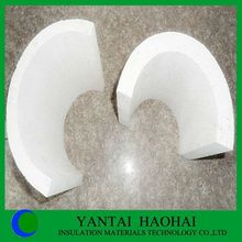 calcium silicate pipe cover perfect sanding A1 set 200-300kg/m3 25-50mm fire rated products high bulk density from Yantai Haohai