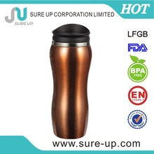 Korea 201 stainless steel double wall vacuum thermos travel with bounce lid(MSUY)