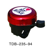 Cangzhou Tiande custom I love my bike bike bell / specified logo/cheap bike parts/warning ring bell