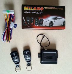 High quality Wholesale Brand Milano Lock Locking Keyless Universal Car keyless Entry System with Remote Controllers