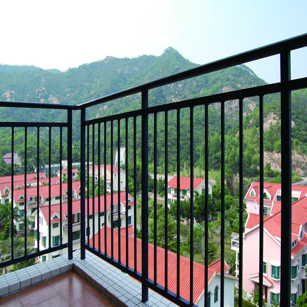 Modern design ms square pipe balcony railing buy balcony for Modern balcony railing design