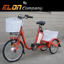 2015 beautiful electric tricycle with front basket(E-TDR03 red )