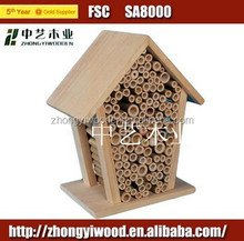 2014 hot selling new product hanging natural FSC wooden insect house for sale for whoelsale