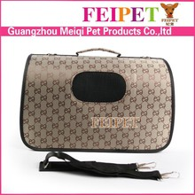 factory best selling luxury pet carry bag for dogs and cats foldable pet travel bag