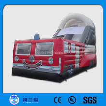 Fire truck durable inflatable water slide Inflatable combo slide
