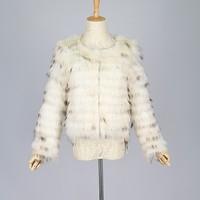 QC9408-2 2015 new women natural raccoon dog fur coat jackets