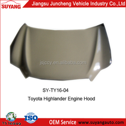 High Quality Engine Hood for Toyota Highlander used auto spare parts
