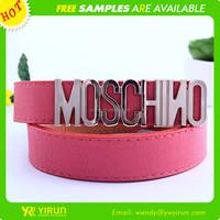 High quality women's fashion belt letter faux leather women brand belts