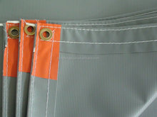 PVC Fabric For Fireproof /Waterproof Fabric With Aluminum Eyelet
