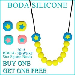 2015 Silicone Teething Necklace/Food Grade /BPA Free Silicone Teething Necklace for Babies
