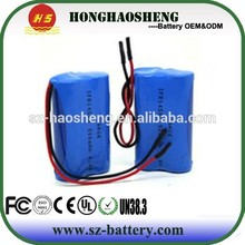 1s2p 3.7v 5200mah lithium ion battery cell rechargeable 18650 battery pack