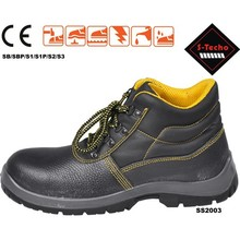 Mens steel toe safety shoes, middle cut safety shoe