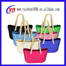 2015 china wholesale silicone handbags/silicone shoulder bag for woman silicone beach bag