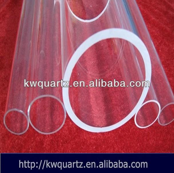 de silicona claro de laboratorio de cristal del tubo del fusible para la industria química
