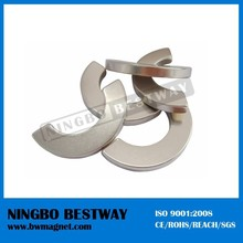 Customized Permanent arc neodymium NdFeB magents N35/N38/N42/N45/N48 Segment shape used in motor for sales