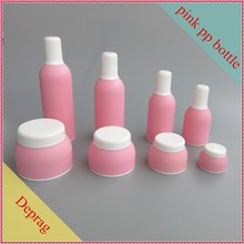 2015 new plastic Korean style 30ml PP plastic container manufacturer,4oz cheap plastic face lotion and toner,pink cosmetic pack