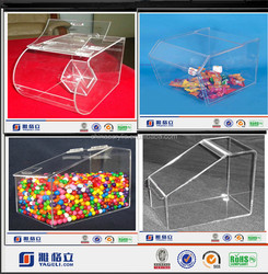 Wholesale Acrylic Candy Dispenser Box/ Storage Plastic Bin/ Acrylic Food Storage Containers