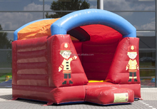 BOUNCY CASTLE MINI FIRE TRUCK WITH ROOF