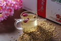 Rosa de trigo sarraceno té 125 g verde orgánico productos de la flor beneficios del té
