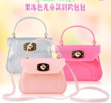 New popular American Classically Silicone Jelly Handbag for Women Fashion Silicone Candy Jelly handbag Crossbody bag and Purse