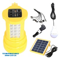 Rechargeable Handheld Strong Light 3W Solar Led Flashlight with Working Light