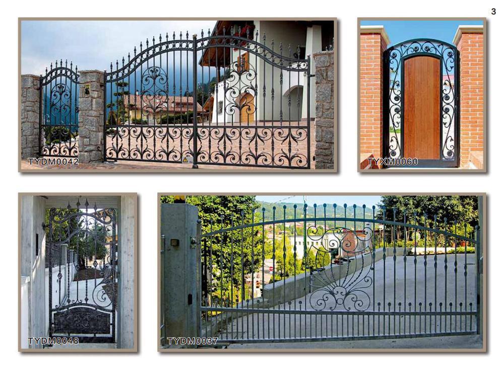 Cercas de hierro elegant capa del polvo para las puertas - Cercas de hierro ...