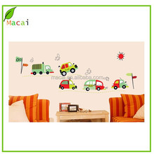 adhesive cartoon car wall decals for kids