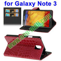 Crocodile Pattern Wallet Leather Case for Samsung Galaxy Note 3 /N9000 with Holder