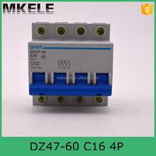 miniature circuit breaker mcb manufacturers DZ47-60 4P C16