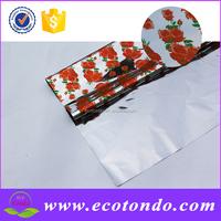 flower designer colored plastic gift wrap cellophane sheet for sale