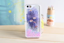 quicksand flower crystal cell phone case