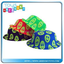 kids party toys paper round top cowboy hats round top hats
