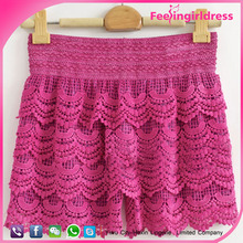 Wholesale High Quality Flower Embroidery Girls Photos With Mini Skirt