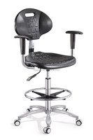 Fire Retardant Pu Computer Lab Chair/ Lab Stool/ Laboratory Chair