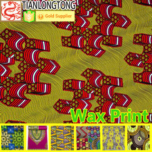 2015 hot sale new product 100%cotton african super wax print fabric for fashion dress