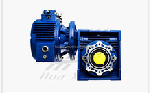 Combine of UDL0.12(0.18)/MB002+NMRV063 Lifting machinery shaft mounted gearbox worm gear speed reducer with IEC geared motor