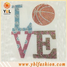 love basketball letters studs rhinestone transfer for boy jeans