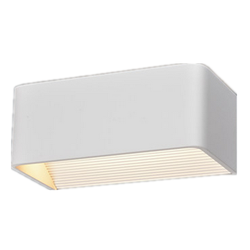 Up-Down Outdoor Wall Light Shown in Light Brushed Silver wall light 6w
