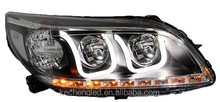 2014 Hot Sale Car Headlight dual color LED Lamp for Car HID xenon Projector Headlights for Chevrolet Malibu