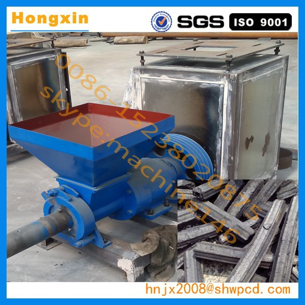 Sawdust briquette making machine view