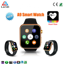 Wholesale luxury bluetooth wrist watch touch screen smart watch A9 with heart rate monitor