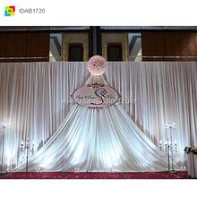 wedding decoration arabic curtain decoration/thanksgiving shower curtain/led star curtain blue white white